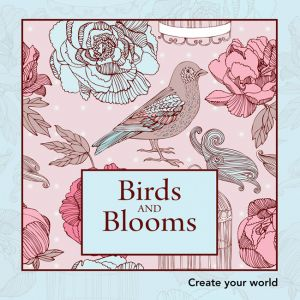 Colouring In Book Mini - Birds and Blooms