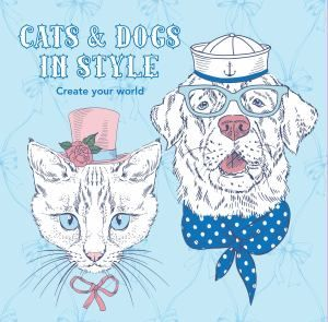 Colouring In Book - Cats and Dogs In Style