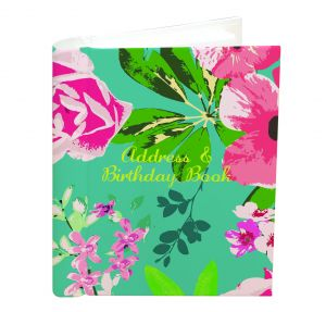 Address and Birthday Book -  Tropical Flowers