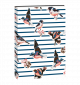 Journal Flexi -  Birds with Stripes